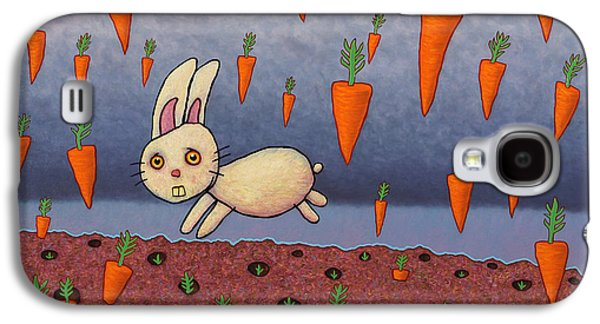 Rabbit Galaxy S4 Case - Raining Carrots by James W Johnson