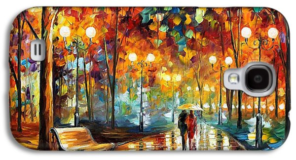 Rain's Rustle 2 - Palette Knife Oil Painting On Canvas By Leonid Afremov Galaxy S4 Case