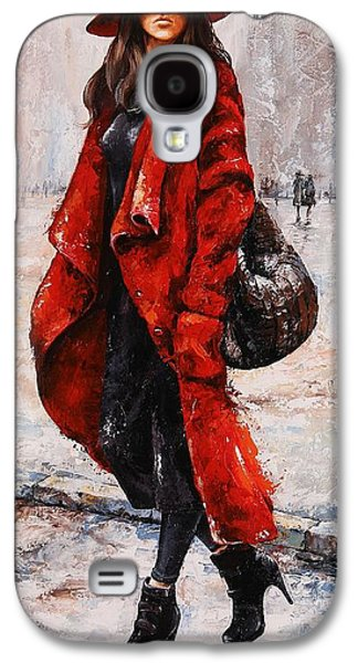 Rainy Day - Red And Black #2 Galaxy S4 Case by Emerico Imre Toth