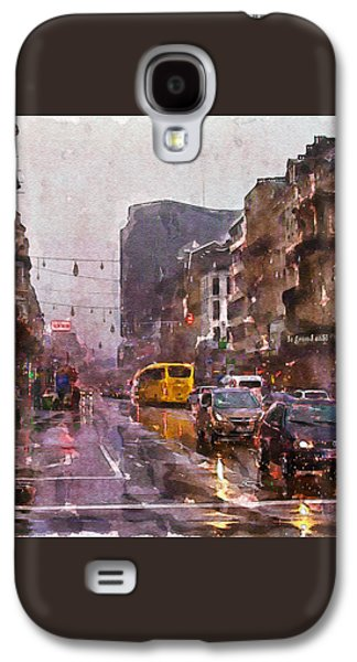 Rainy Day Traffic Galaxy S4 Case by Marian Voicu