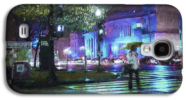 Rainy Night Blues Galaxy S4 Case by Terry Rowe