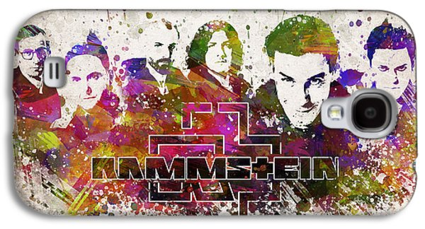 Rammstein In Color Galaxy S4 Case by Aged Pixel