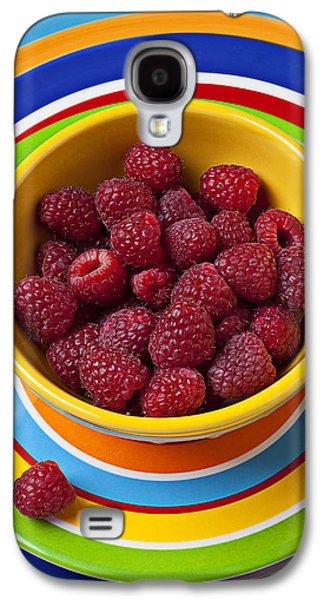 Raspberries In Yellow Bowl On Plate Galaxy S4 Case