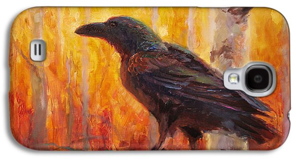 Raven Glow Autumn Forest Of Golden Leaves Galaxy S4 Case by Karen Whitworth