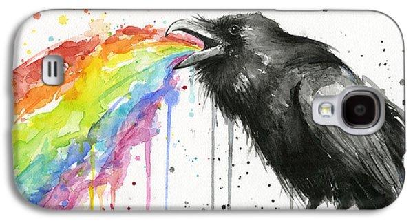 Raven Galaxy S4 Case - Raven Tastes The Rainbow by Olga Shvartsur