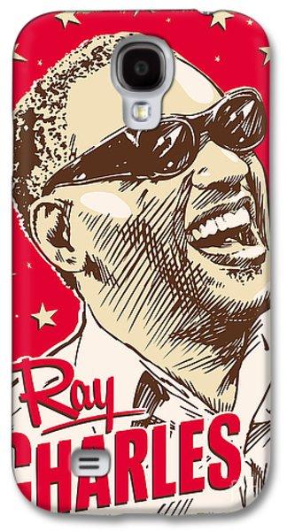 Ray Charles Pop Art Galaxy S4 Case