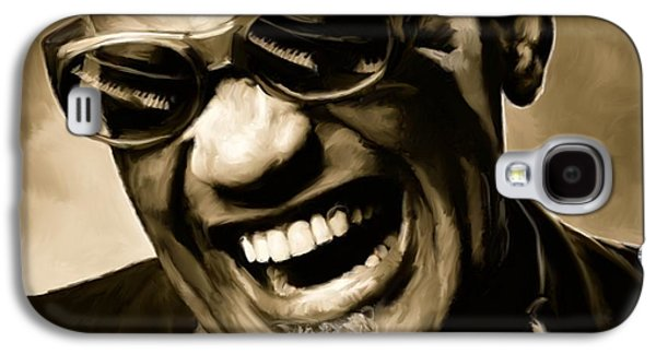 Ray Charles - Portrait Galaxy S4 Case by Paul Tagliamonte
