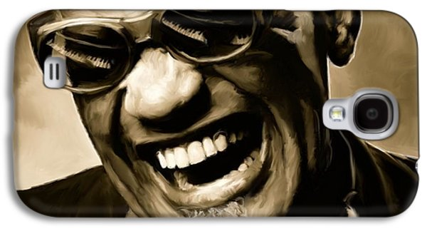 Rhythm And Blues Galaxy S4 Case - Ray Charles - Portrait by Paul Tagliamonte