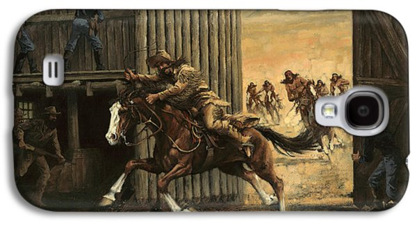 Re-closing Frontiersmen Coming Into The Fort Galaxy S4 Case