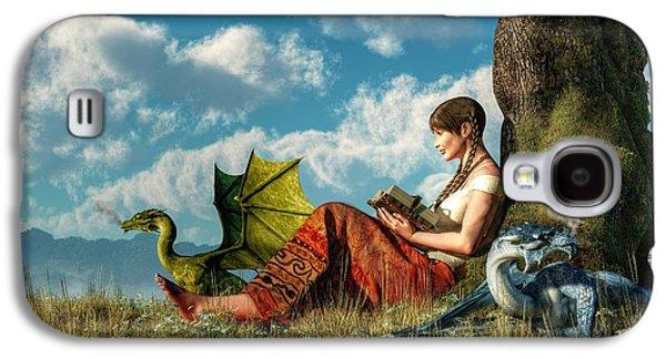 Dungeon Galaxy S4 Case - Reading About Dragons by Daniel Eskridge