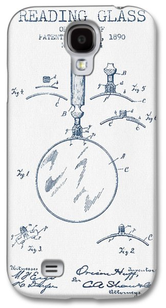 Reading Glass Patent From 1890- Blue Ink Galaxy S4 Case