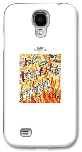 Recycling In Hell Unbent Paper Clips Galaxy S4 Case by Roz Chast
