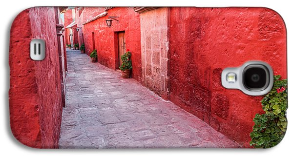 Red Alley In Monastery Galaxy S4 Case by Jess Kraft