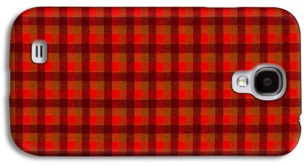 Red And Black Checkered Tablecloth Cloth Background Galaxy S4 Case by Keith Webber Jr
