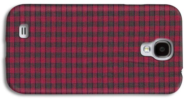 Red And Black Plaid Pattern Textile Background Galaxy S4 Case by Keith Webber Jr