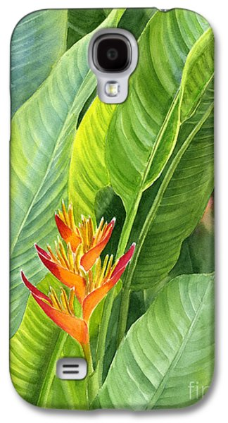 Red And Gold Heliconia Galaxy S4 Case