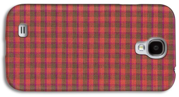 Red And Green Checked Plaid Pattern Cloth Background Galaxy S4 Case by Keith Webber Jr