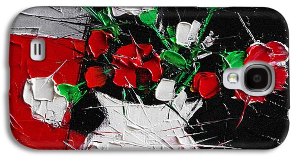 Red And White Carnations Galaxy S4 Case by Mona Edulesco