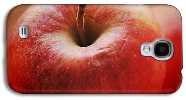 Orange Galaxy S4 Case - Red Apple by Matthias Hauser