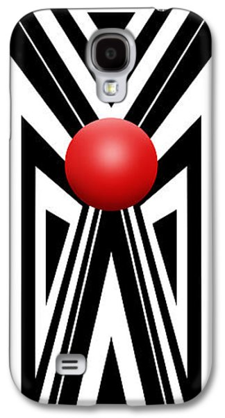 Red Ball 7 V Panoramic Galaxy S4 Case by Mike McGlothlen