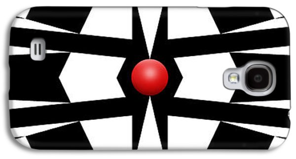 Red Ball 9a Panoramic Galaxy S4 Case by Mike McGlothlen