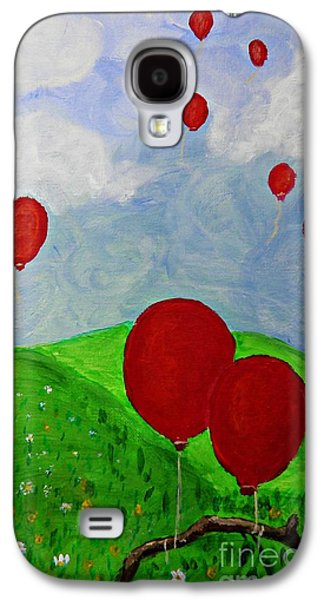 Red Balloons Galaxy S4 Case by Sarah Loft