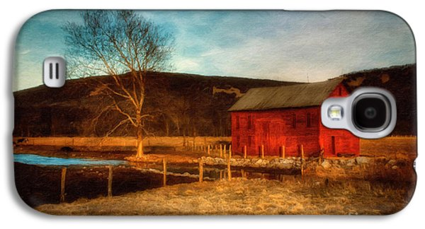 Red Barn At Twilight Galaxy S4 Case by Lois Bryan