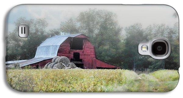 Red Barn In The Fog Galaxy S4 Case