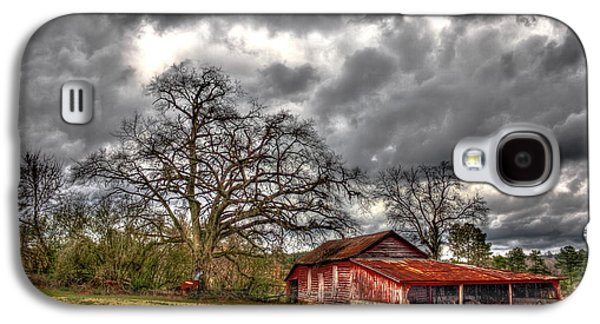 Red Barn On The Boswell Farm Galaxy S4 Case