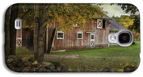 Red Barns And Stone Fences-new England Traditions Galaxy S4 Case by Thomas Schoeller