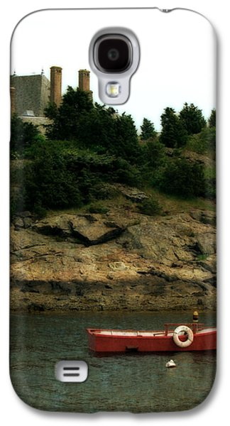 Red Boat In Newport Galaxy S4 Case by Michelle Calkins