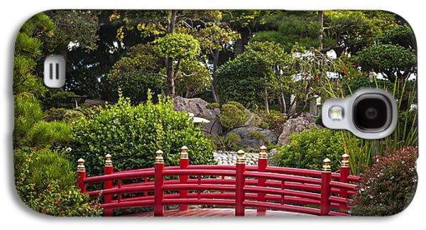 Red Bridge In Japanese Garden Galaxy S4 Case