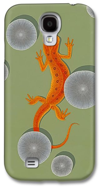 Red Eft Newt Galaxy S4 Case by Nathan Marcy