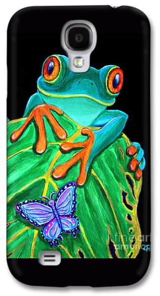 Red-eyed Tree Frog And Butterfly Galaxy S4 Case