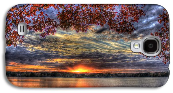 Good Bye Till Tomorrow Fall Leaves Sunset Lake Oconee Georgia Galaxy S4 Case
