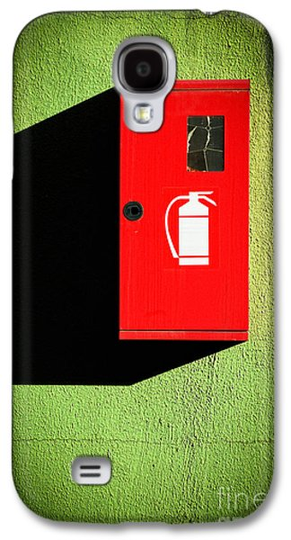 Red Fire Extinguisher Box Galaxy S4 Case by Silvia Ganora
