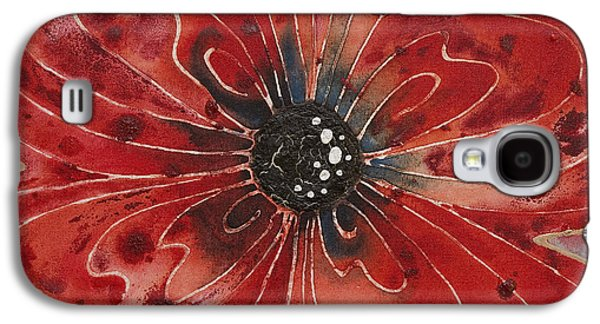 Red Flower 1 - Vibrant Red Floral Art Galaxy S4 Case