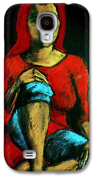 Red Hair Woman Galaxy S4 Case by Mona Edulesco