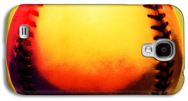 Red Hot Baseball Galaxy S4 Case by Yo Pedro