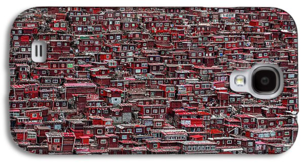 Red Houses Galaxy S4 Case
