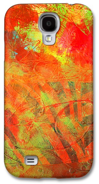 Red Jungle Abstract Galaxy S4 Case