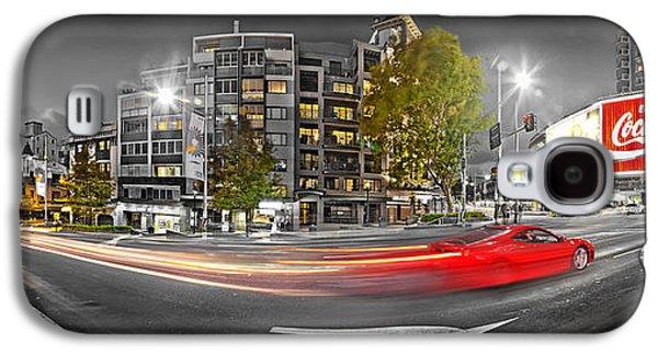 Red Lights Sydney Nights Galaxy S4 Case by Az Jackson