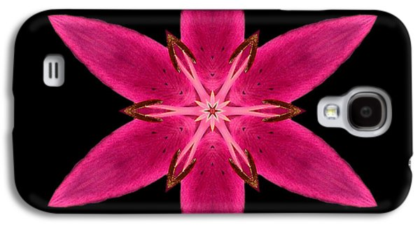 Red Lily I Flower Mandala Galaxy S4 Case by David J Bookbinder