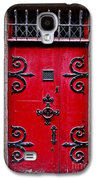 Red Medieval Door Galaxy S4 Case