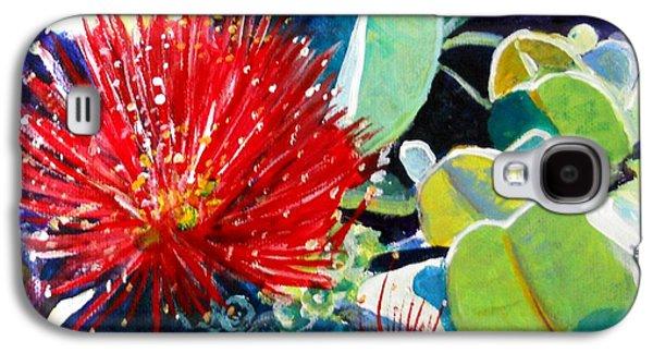 Red Ohia Lehua Flower Galaxy S4 Case