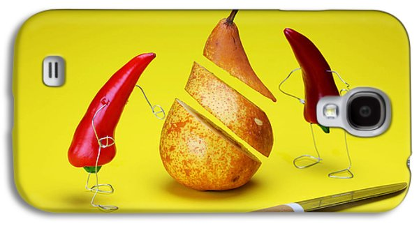 Red Peppers Sliced A Pear Galaxy S4 Case