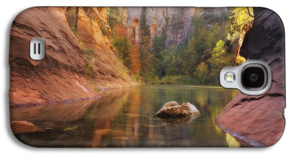 Red Rock Autumn Galaxy S4 Case by Peter Coskun