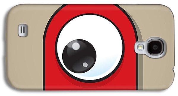 Red Galaxy S4 Case by Samuel Whitton