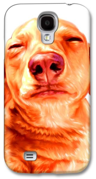 Red Shorthaired Dachshund Galaxy S4 Case by Iain McDonald