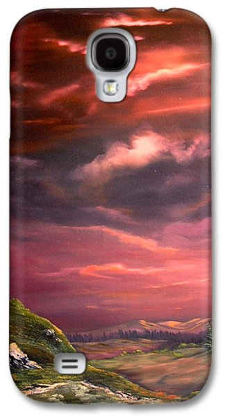 Crossbill Galaxy S4 Case - Red Sky At Night by Jean Walker